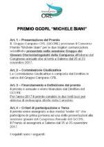 """Bando del concorso """"Michele Siani"""" per i giovani colleghi del GCORL. Scadenza 10 novembre 2017."""