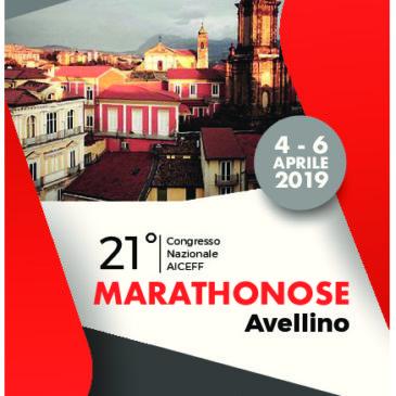 XXI Congresso Nazionale AICEFF: Marathonose dal 4 al 6 aprile 2019